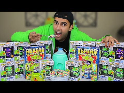 KING REPTAR TASTE TEST NEW REPTAR CEREAL AND CANDY BAR!!! (CHANGED MY LIFE FOREVER) *EMOTIONAL*