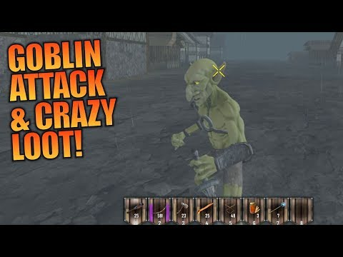 GOBLIN ATTACK & CRAZY LOOT | Medieval MOD 7 Days to Die | Let's Play Gameplay Alpha 16 | S01E02