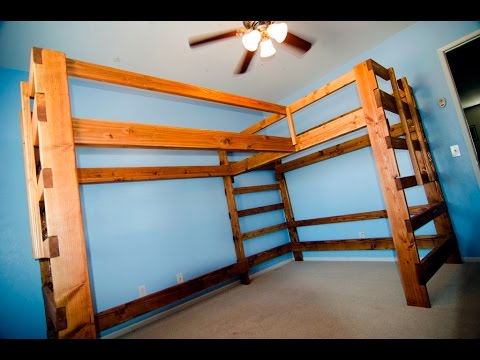 Time Lapse - Sneak Peak at turning the dual loft bed into a bunk bed to save space