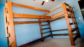 I finished building the dual loft bed this weekend but it ended up being too large to fit in the my sons