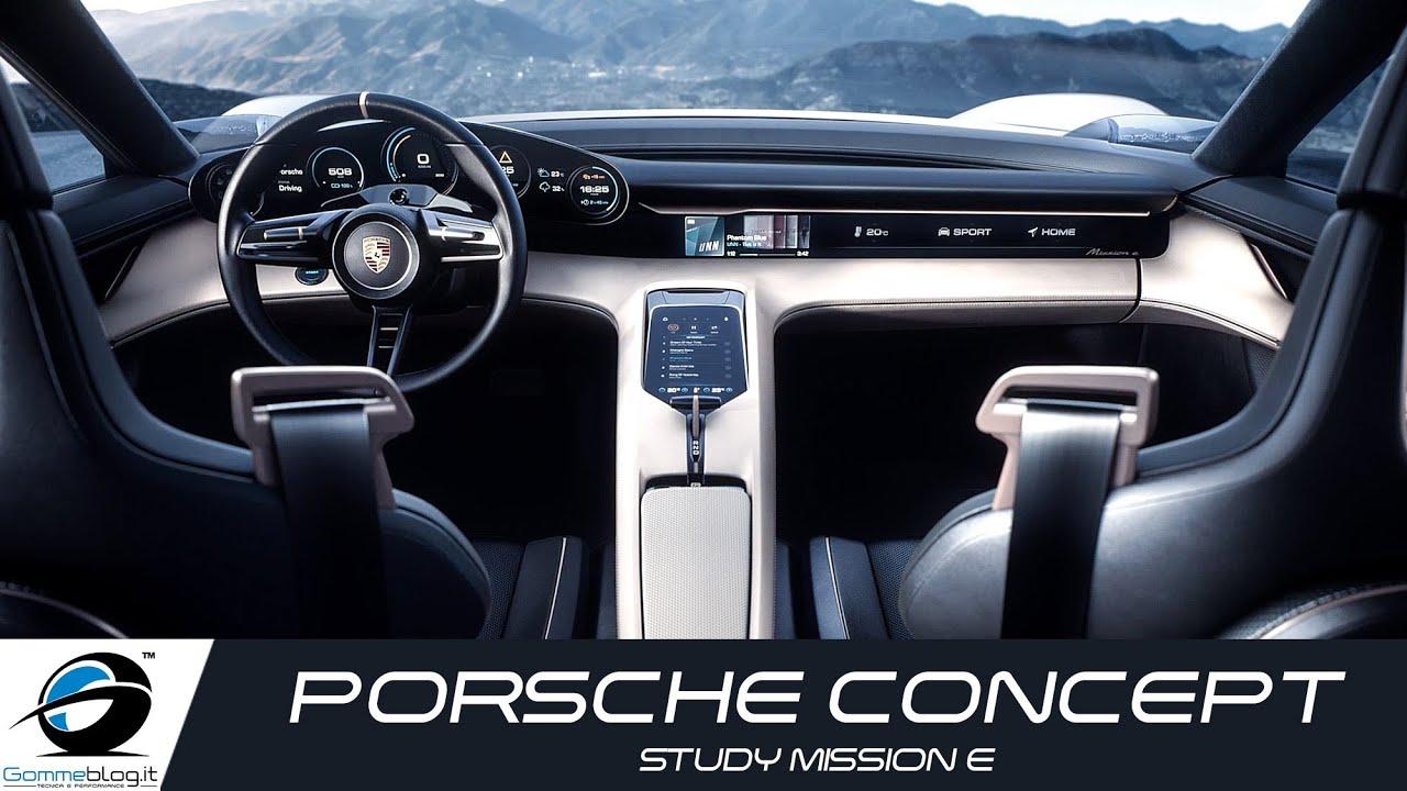 Porsche Concept Study Mission E | INTERIOR DESIGN   YouTube