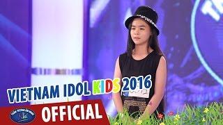 vietnam idol kids - than tuong am nhac nhi 2016 - thi sinh nhi tu tin hat tieng anh truoc bgk