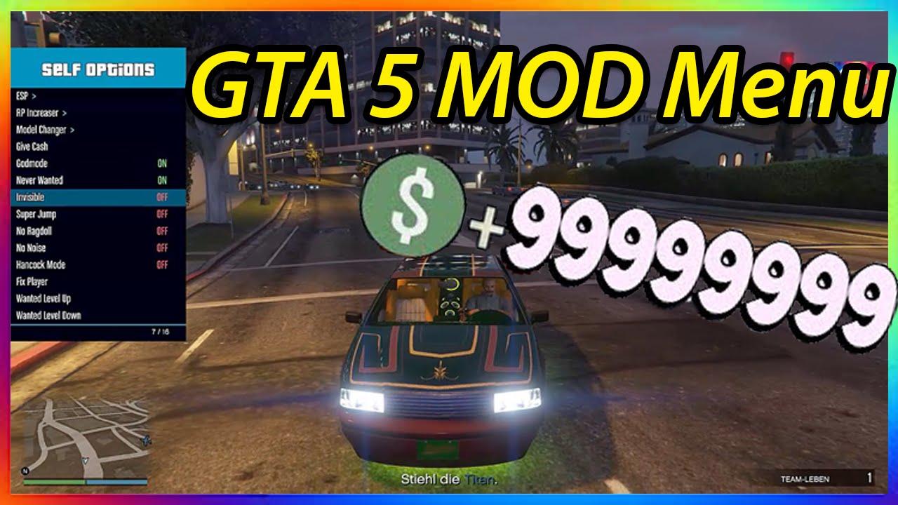 MOD MENU GTA 5 ONLINE 134 999999 PC MONEY GLITCH RP