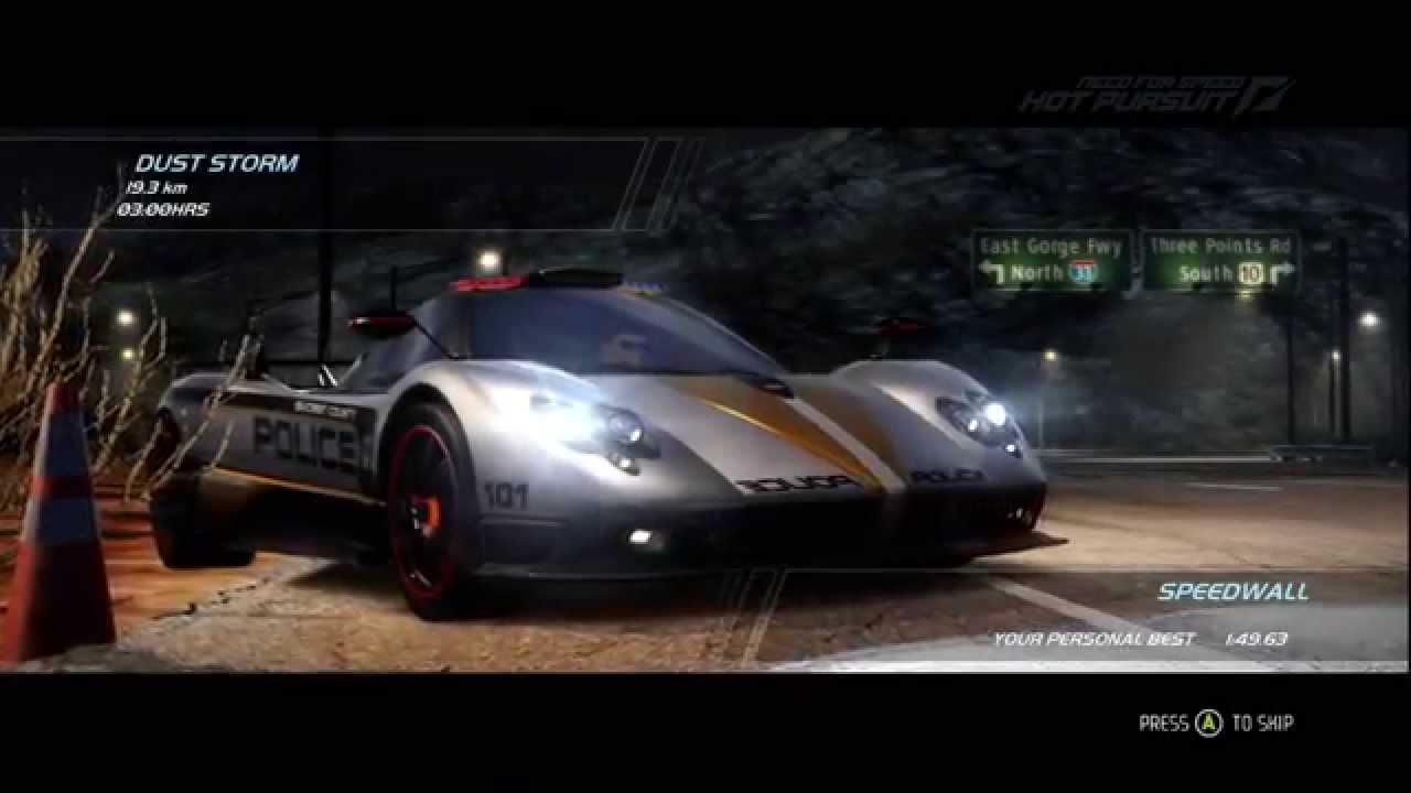 Need For Speed Hot Pursuit Pagani Zonda Cinque Cop Gameplay