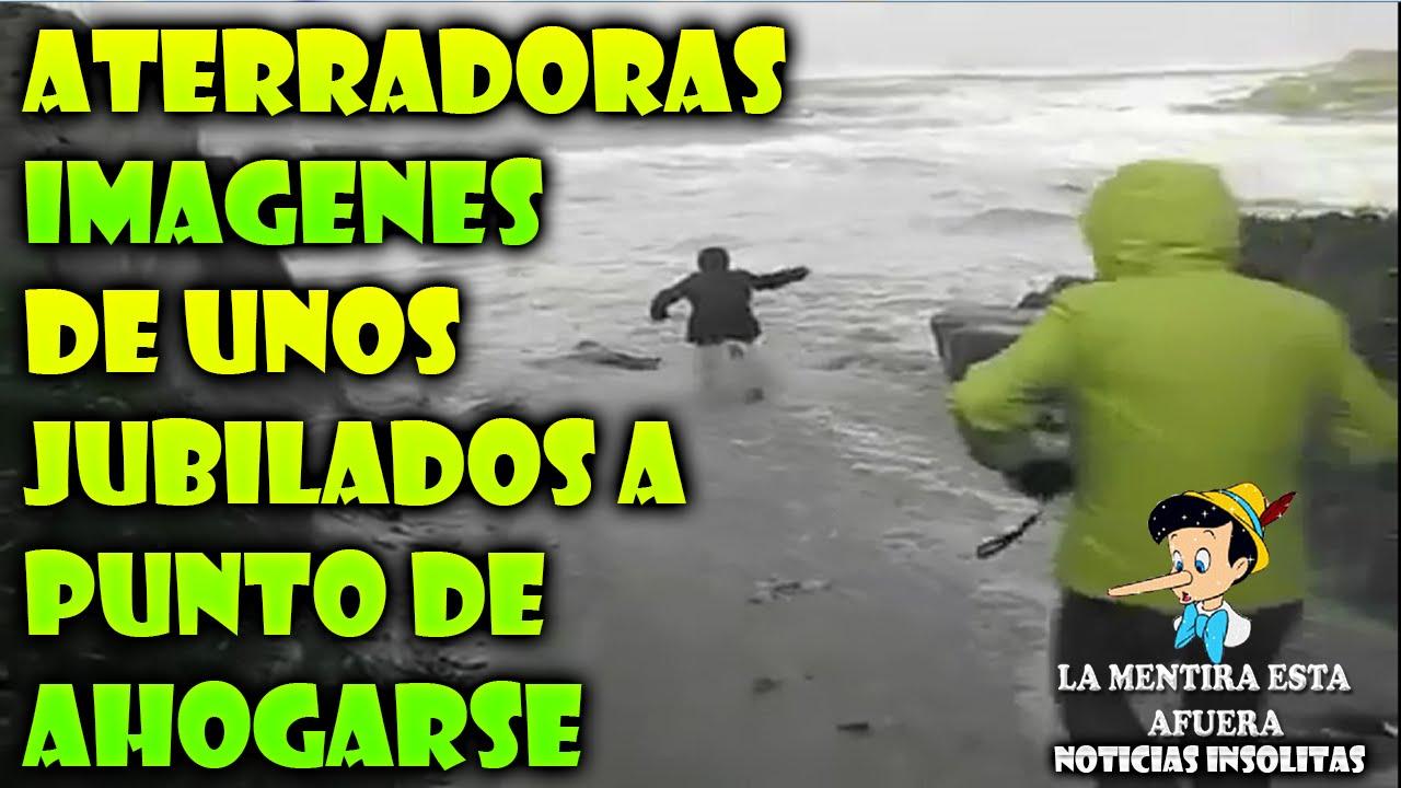ATERRADORAS IMAGENES DE UNOS JUBILADOS A PUNTO DE AHOGARSE | Noticias Insólitas