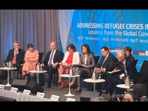 Ghida Fakhry moderating at The World Bank Group-IMF Spring Meetings 2017 -Addressing Refugee Crisis