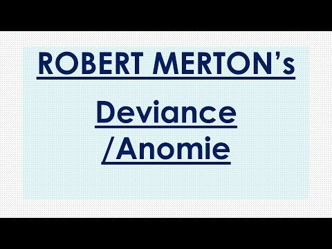 Sociology for UPSC : ROBERT MERTON - Deviance - Lecture 82