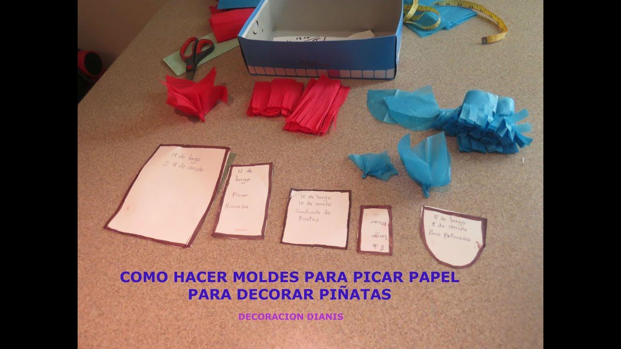 Como hacer moldes para picar papel para decorar pi atas - Como hacer unas fundas para el sofa ...