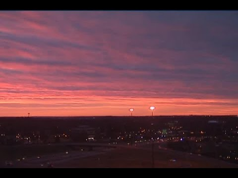 Time-lapse: Tuesday's sunrise over Omaha in 35 seconds