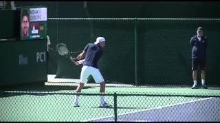 Novak Djokovic forehand/backhand 5X slowmotion (low res)