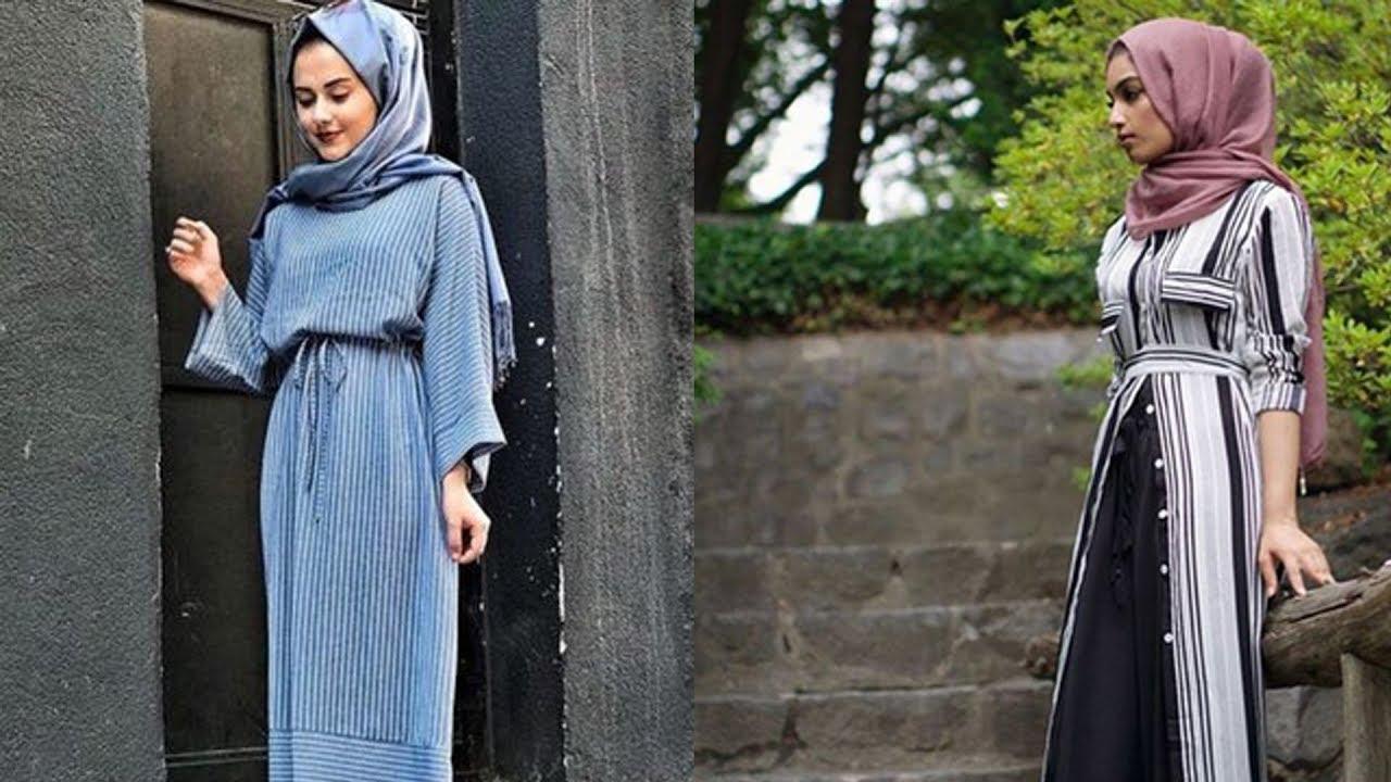 0be58593e ملابس محجبات 2018 - اروع تشكيلة ملابس للمحجبات - YouTube