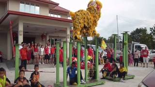 YICK NAM LION DANCE TEAM B - KG MAHANDOI (31JAN 2014)