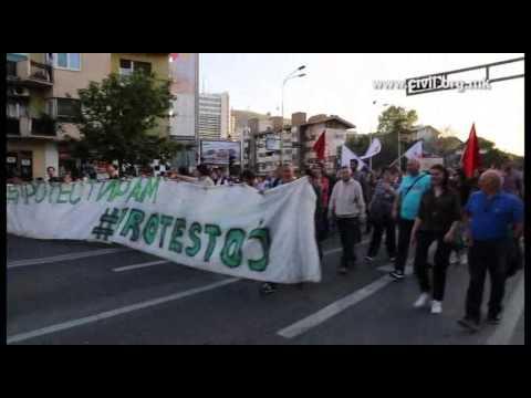Day 4: Prodemocracy protests in Skopje, Macedonia