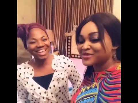 Download Mercy Chinwo on stage with Mercy Aigbe for  Another Father's Day