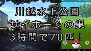 【ポケモンGO】折り畳み自転車使って3時間でサイホーン70匹! in 川越水上公園