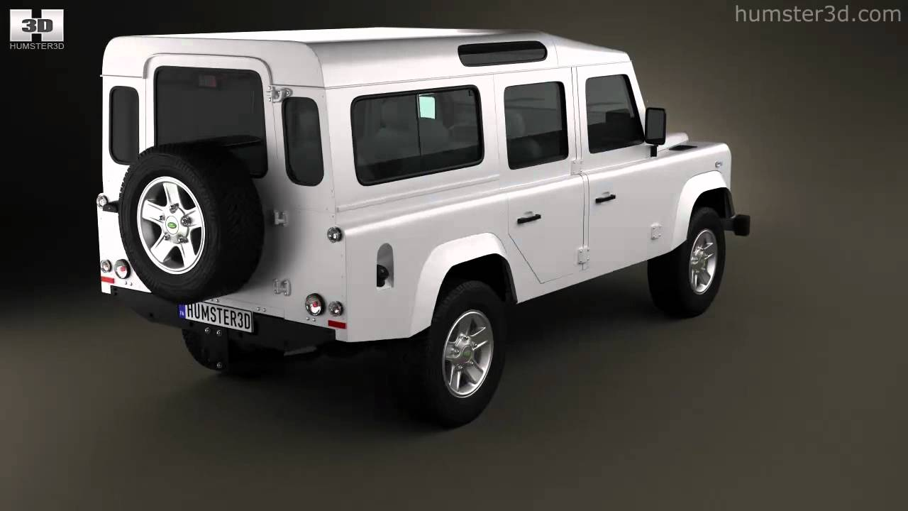 Land Rover Defender 110 Station Wagon 2011 by 3D model ...