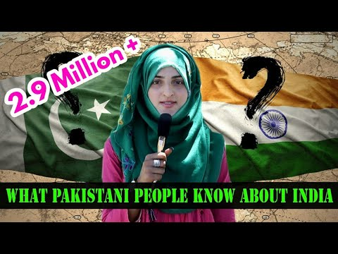 what pakistani  people know about india