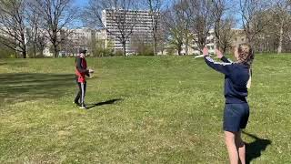 Fånga: Lär dig fånga en frisbee