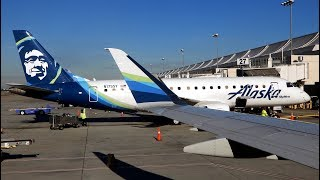 Alaska Airlines Embraer ERJ-175 Landing at San Jose International Airport