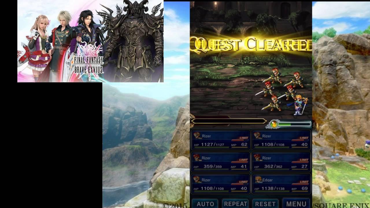 Final Fantasy Brave Exvius advance tips tricks and cheats