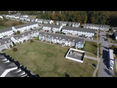 Fort Eustis Housing North Village HD 1080 aerial drone video