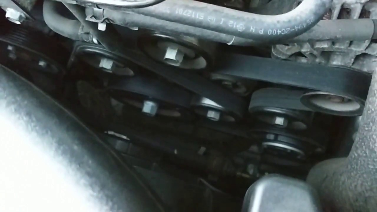 hight resolution of 2013 hyundai genesis coupe 2 0t serpentine belt replacement