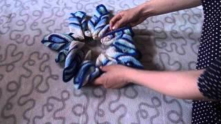 Сборка подушки Звезда(наглядный процесс сборки подушки Звезда, связанной крючком из остатков пряжи., 2015-04-27T09:30:03.000Z)