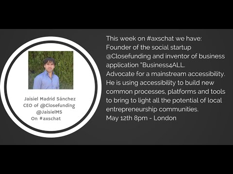 AXSChat: Jaisiel Madrid Sánchez.From @Closefunding.Telecom Engineer with an MSc in Machine Learning