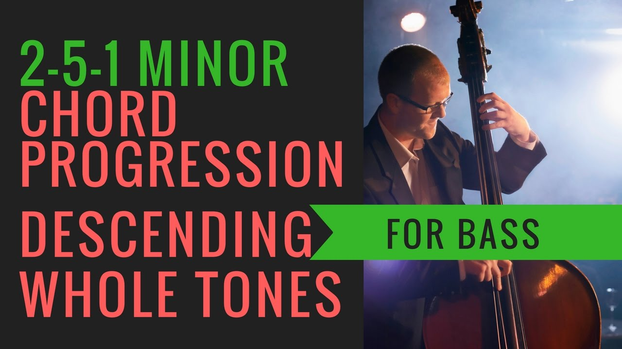 2 5 1 Minor Chord Progression Descending In Whole Tones Backing
