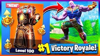 PLAYING AS THANOS! Infinity Gauntlet LTM | Fortnite x Avengers Infinity Wars