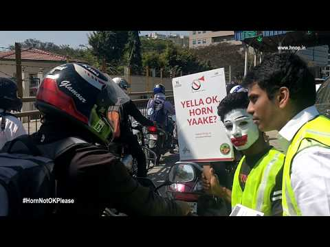 Electronic City Bangalore Joins Young Indians & Says Horn Not OK Please