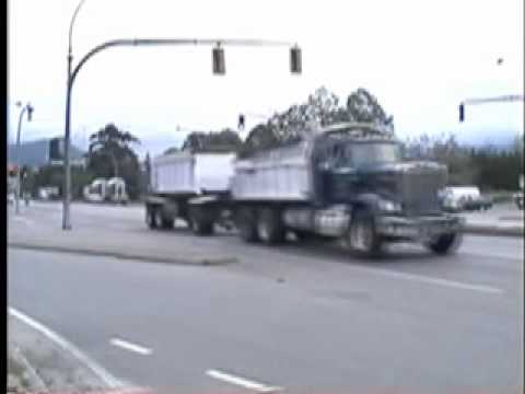 Vehicle Failing to Stop At Intersection Flashing Red Light Coquitlam BC Canada