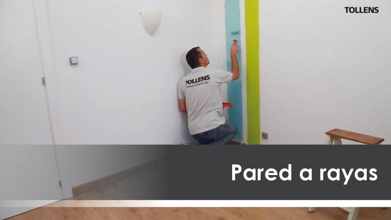Cmo pintar una pared a rayas  YouTube