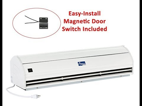 "Awoco 36"" Elegant 2 Speeds 900 CFM Indoor Air Curtain with an Easy-Install Magnetic Door Switch"
