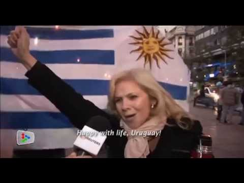 Uruguay and England fans react after England's 2-1 defeat