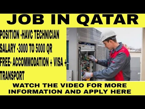 Hvac Technician Job In Qatar | 3000 To 5000 Qatar Riyal Salary | Qatar Vacancy | Qatar Visa |