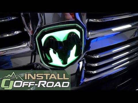 Giving The RAM A Unique Touch!: 2013-2018 Dodge Ram X-Lume Ram Grille Emblem With ColorShift Install