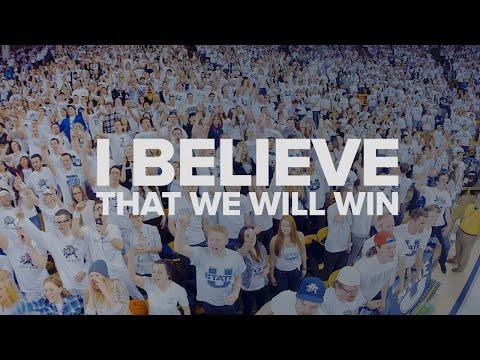 I Believe That We Will Win - Utah State University (USU) Basketball Chant! HD
