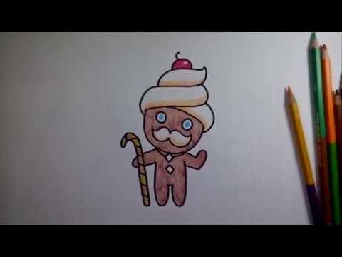 (ระบายสี) วาดการ์ตูน กันเถอะ สอนวาดรูป การ์ตูน คุกกี้ อาบัง จาก การ์ตูน คุกกี้รัน