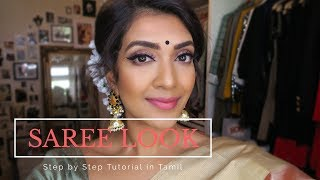 Another Tamil Tutorial for a Saree Look. A Step by Step tutorial on...