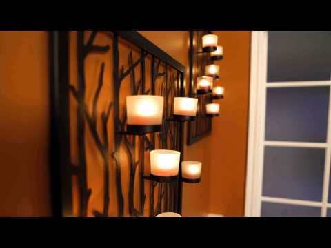 PartyLite Canada Framework Candle Lantern & Woodland Sconce / Lanterne Trio Classico