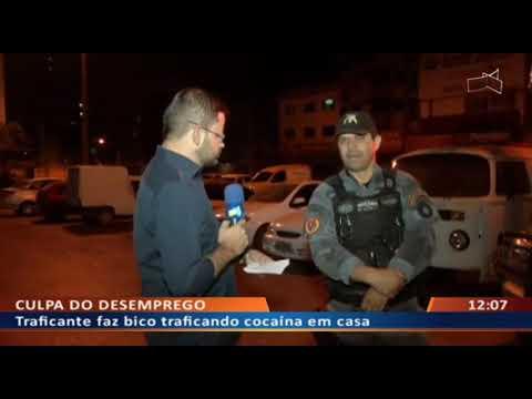 DFA - Bandido diz que trafica cocaína por causa do desemprego