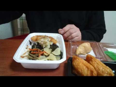 めし動画ほっともっとのり弁当とおいなりさんを食べます♪
