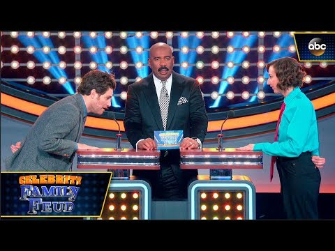 Kristen Schaal and Adam Pally Face Off  Celebrity Family Feud