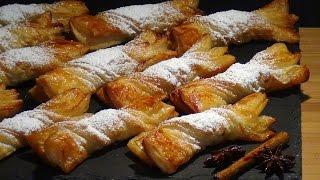 Receta Lazos de hojaldre a la miel - Recetas de cocina, paso a paso, tutorial