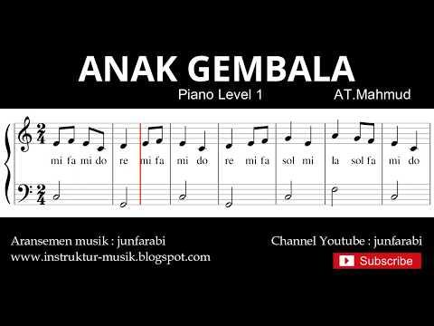 not balok anak gembala - tutorial piano tingkat 1 - at mahmud