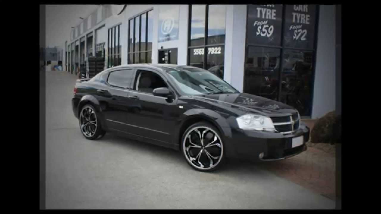 Dodge Avenger rolling 22'' custom rims Verde Black Widow ...