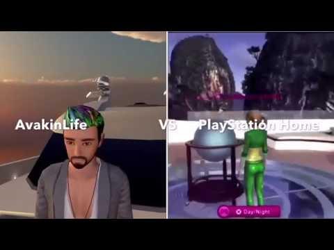 Avakin Life vs PlayStation Home