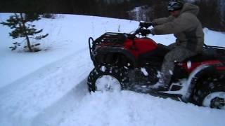 КВАДРИК и каракат по снегу 1 из 2