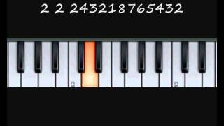 How to play the Cancan Theme - Music By Numbers Piano Lesson